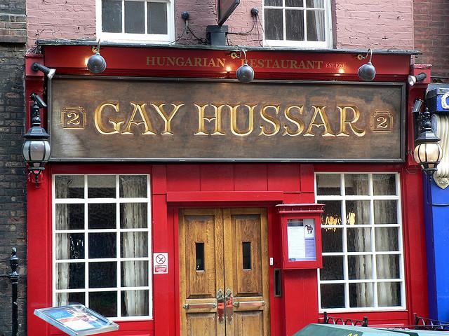 Gay Hussar, un restaurant unguresc din Londra