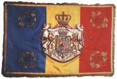 Regatul României - Drapel militar din timpul Regelui Mihai I (1940-1947), variantă 1