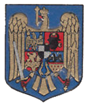 """Regatul României - Stemă aflată pe cartea """"Rumänien"""" - Regina Maria (mică)"""
