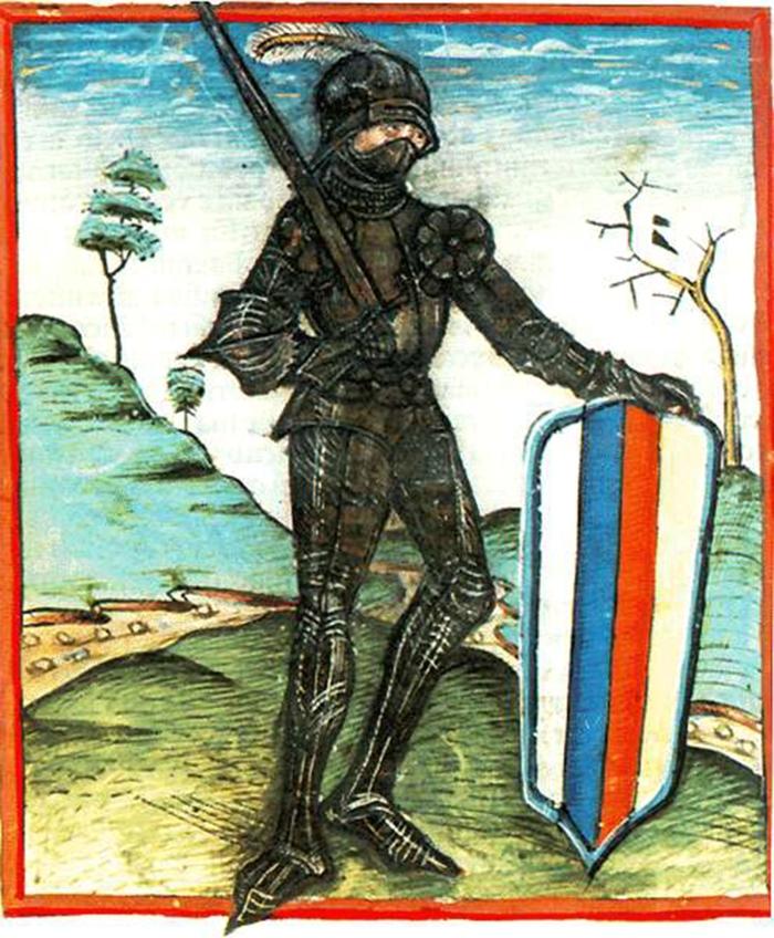 Ioan de Hunedoara cu scut pavise