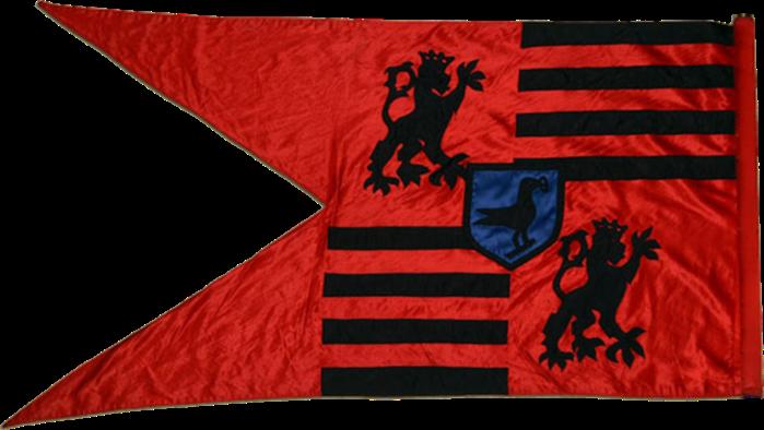 Steag al Armatei Negre (revers), sec. XV