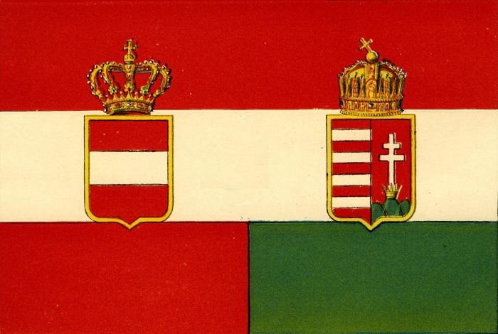 Steag al Austro-Ungariei (avers), sec. XIX