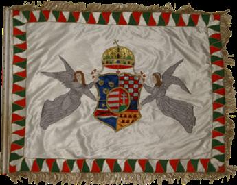 Steag al Batalionului Regal de Cavaleri Honvezi (avers), 1869