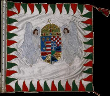 Steag al Batalionului Regal de Cavaleri Honvezi (avers), 1938