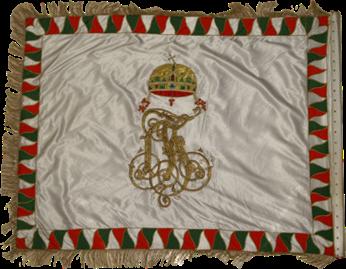 Steag al Batalionului Regal de Cavaleri Honvezi (revers), 1869
