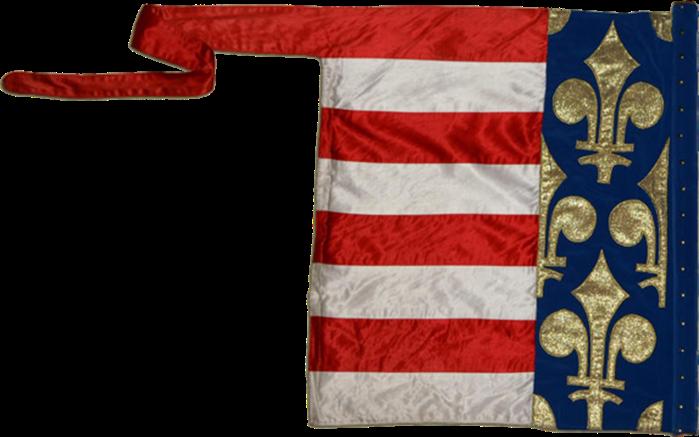 Steag al Casei Regale de Anjou a Ungariei (revers), sec. XIV