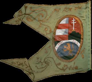 Steag al cavaleriei nobililor răsculați din Comitatul Pest/ Pesta (revers), sec. XVIII