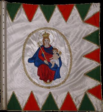 Steag al cavalerilor honvezi folosit după detronare (avers), 1849