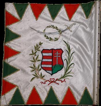 Steag al cavalerilor honvezi folosit după detronare (revers), 1849