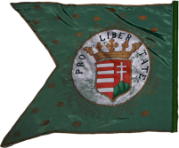 Steag al cavalerilor kuruți conduși de II. Rákóczi Ferenc/ Francisc al II-lea de Rákóc, Principe al Transilvaniei (revers), 1706