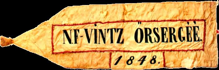 Steag al Gărzii Naționale din Vințul de Sus (revers), 1848