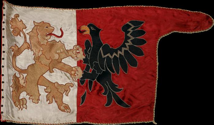 Steag al haiducilor din Salonta conduși de Ștefan de Bocska, Principe al Transilvaniei (avers), sec. XVII