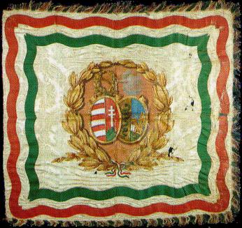 Steag al Legiunii Italiene din Ungaria (avers), 1849