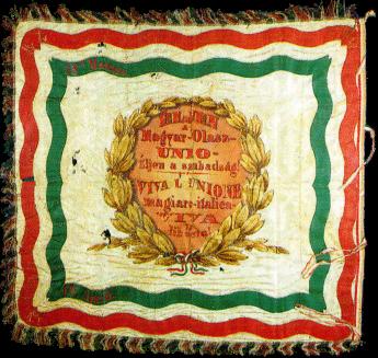 Steag al Legiunii Italiene din Ungaria (revers), 1849