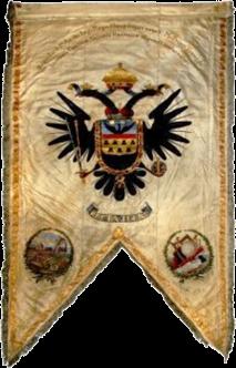 Steag al lui Franz Edler von Salmen, Conte al Sașilor (avers), 1846