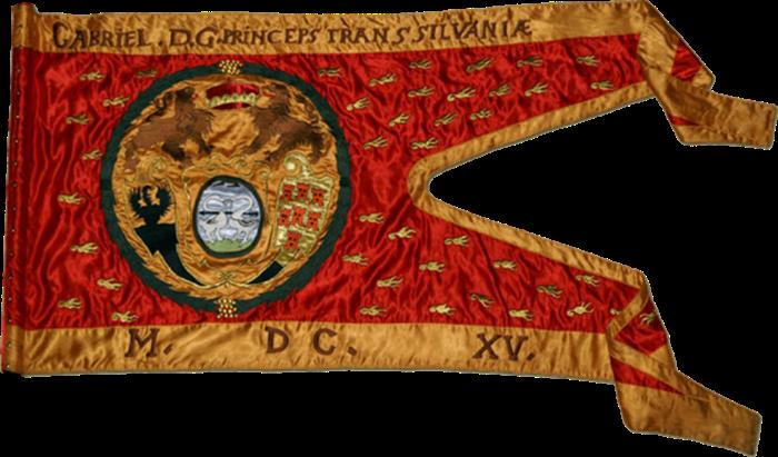 Steag al lui Gabriel Bethlen, Principe al Transilvaniei (avers), 1617.png