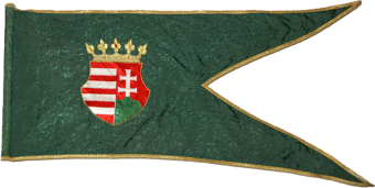 Steag al lui Zrínyi Miklós/ Nicolae de Zrin, Ban al Croației (avers), sec. XVII