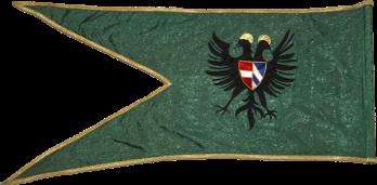 Steag al lui Zrínyi Miklós/ Nicolae de Zrin, Ban al Croației (revers), sec. XVII