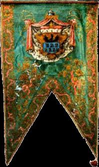 Steag al lui Samuel von Baussnern, Conte al Sașilor (avers), 1786