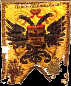 Steag al lui Simon von Baussnern, Conte al Sașilor (avers), 1732