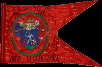 Steag al nobililor răsculați din Comitatul Nyitra/ Nitra (avers), 1660