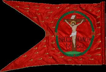 Steag al nobililor răsculați din Comitatul Nyitra/ Nitra (revers), 1660