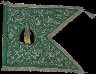 Steag al Regimentului de Husari din Baranya (avers), 1730