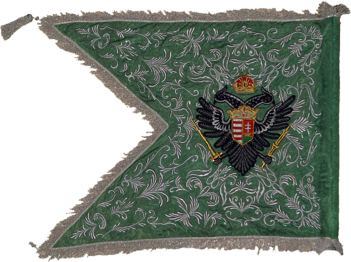 Steag al Regimentului de Husari din Baranya (revers), 1730