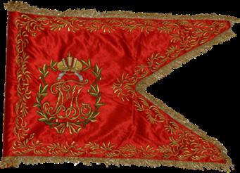 Steag al Regimentului de Husari din Jászkun sau Török (avers), 1770