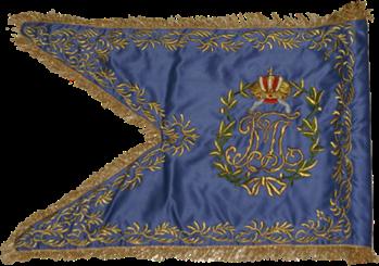 Steag al Regimentului de Husari din Jászkun sau Török (revers), 1770