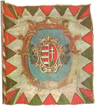 Steag al Revoluției Maghiare din 1848 (avers), 1848, variantă