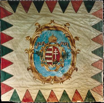 Steag al Revoluției Maghiare din 1848 (avers), 1848