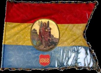 Steag al Societății Olarilor din Hațeg (avers), 1868