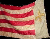 """Steag al Trupei de Cercetași """"Árpád"""" (avers), sec. XIX"""