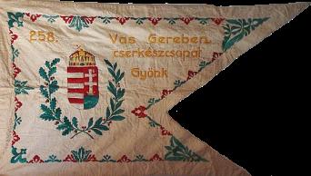"Steag al Trupei de Cercetași nr. 258 ""Vas Gerenen"" din Gyönk (avers), sec. XX"