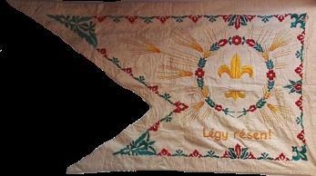 "Steag al Trupei de Cercetași nr. 258 ""Vas Gerenen"" din Gyönk (revers), sec. XX"
