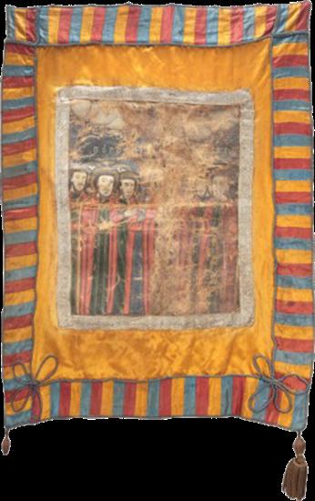 Steag militar al revoluționarilor români din Transilvania conduși de Avram Iancu (avers), 1848