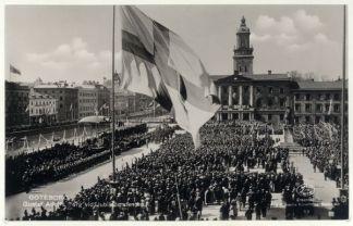 Steagul suedez într-o fotografie ortocromatică