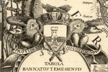 Stema Banatului Timișoarei pe harta banatului din 1776